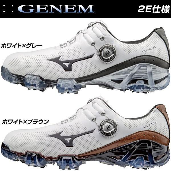 ミズノ MIZUNO ジェネム 007 ボア 2E メンズ ゴルフシューズ 51GP1700