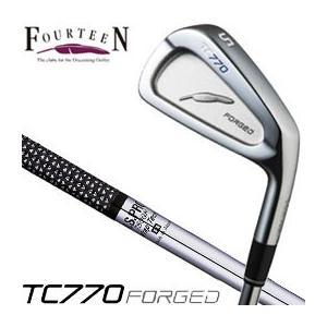 フォーティーン TC770 FORGED アイアン N.S. PRO750GH シャフト 6本セット(#5-P) 特注カスタムクラブ