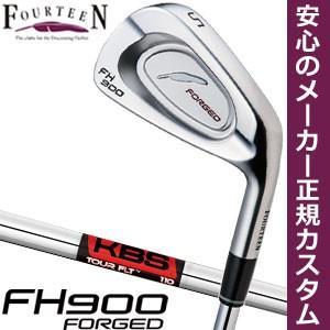 フォーティーン FH900 FORGED アイアン KBS TOUR FLT シャフト 6本セット[#5-P] 特注カスタムクラブ