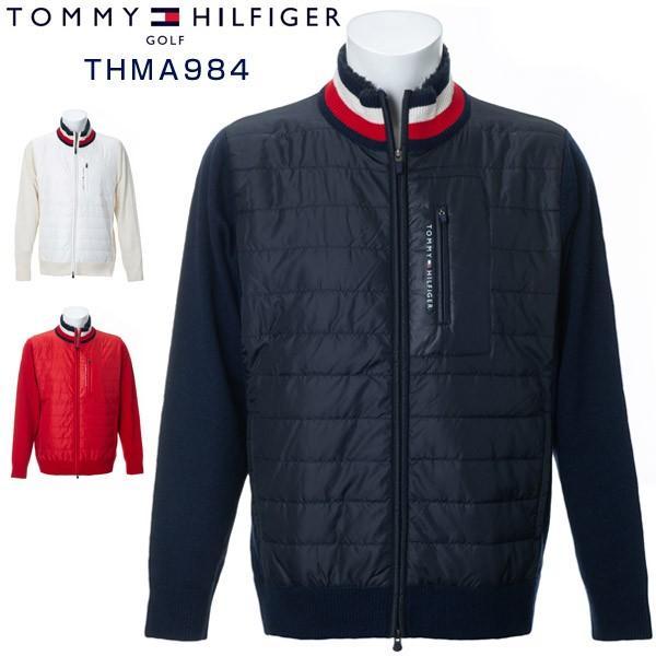 トミーヒルフィガー ゴルフウェア ハイブリッド ジップアップ ニットブルゾン THMA984 2019年秋冬モデル M-XL