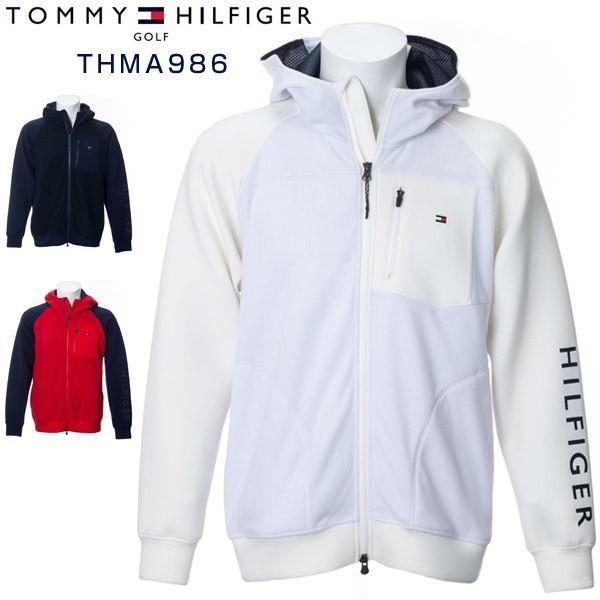 トミーヒルフィガー ゴルフウェア フラッグ ハイブリッド ジップアップ パーカー THMA986 2019年秋冬モデル M-XL