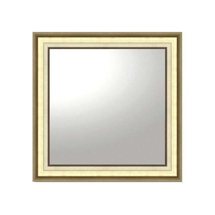 ユーパワー デコラティブ 大型ミラー モダン 正方形(ゴールド) BM-16025壁掛用 おしゃれ メイク