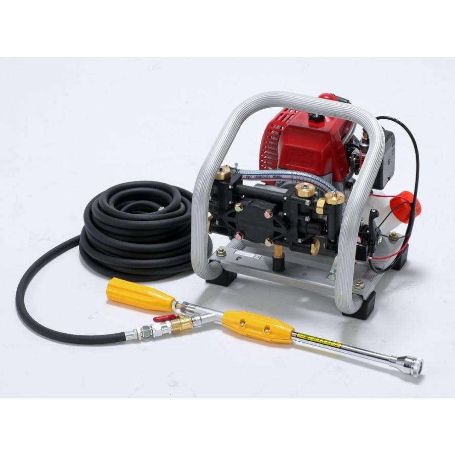 麻場 小型セット動噴 ポンブティー EP-100S エンジン式 10010850