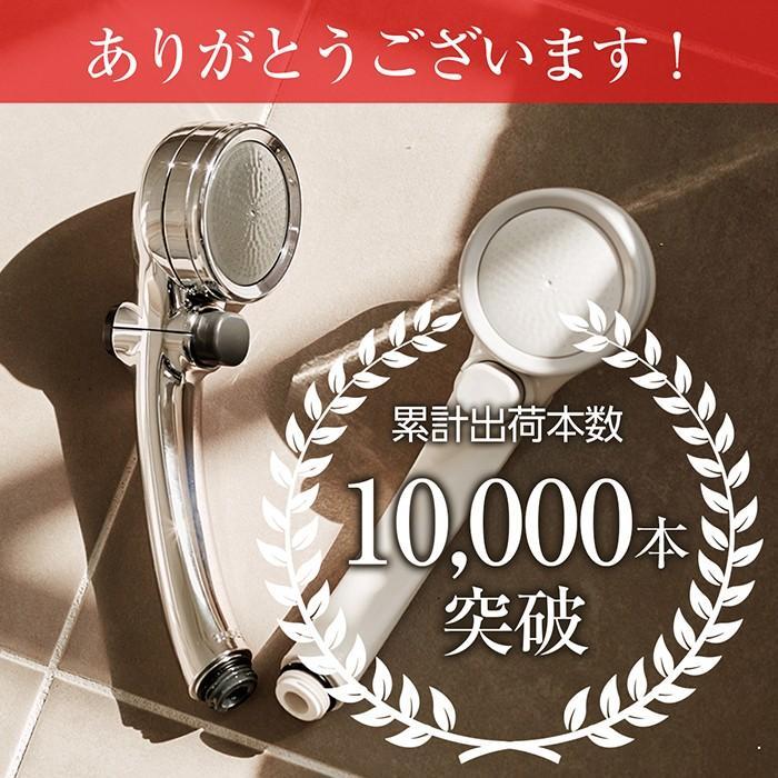 シャワーヘッド 節水 塩素除去 手元止水 浄水シャワー メタリックキモチイイシャワピタWT JSB022M takagi タカギ 安心の2年間保証|greentools|02