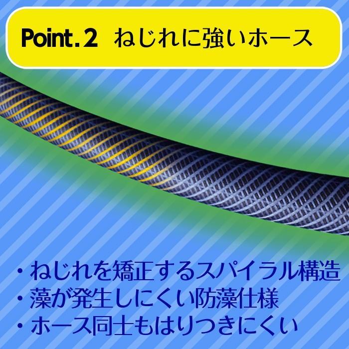 ホースリール 20m タカギ 巻き取り ガイド付 送料無料 マーキュリーIIツイスター RT220TNB takagi 安心の2年間保証 greentools 04