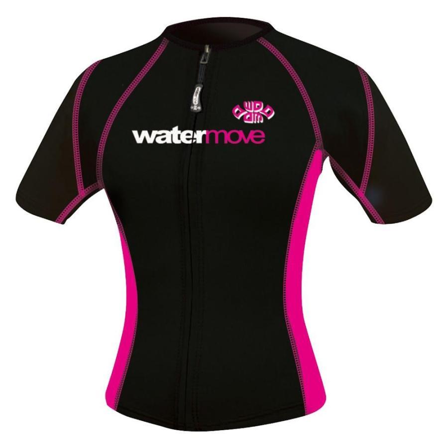watermove ウォータームーブ ショートスリーブボレロ レディース ブラック/ピンク M WMB34232 代引き不可・同梱不可