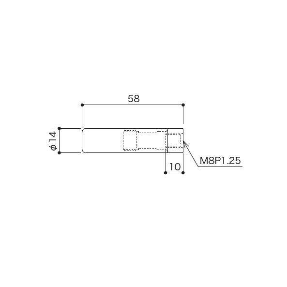TGR-3B (M8メス・水平・グリップテンション側・φ3 片ストップワイヤー用)|gripshop|02