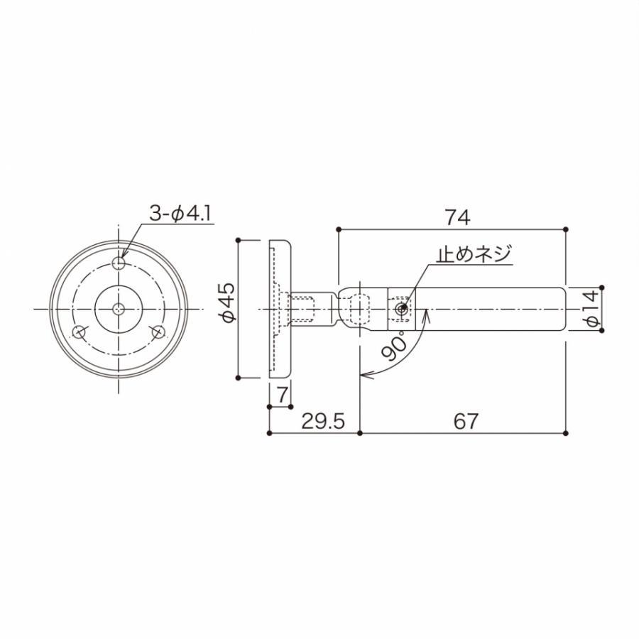TGR-7B+C (端末ホールド側・ビス止め・傾斜・φ3 片ストップワイヤー用)|gripshop|02