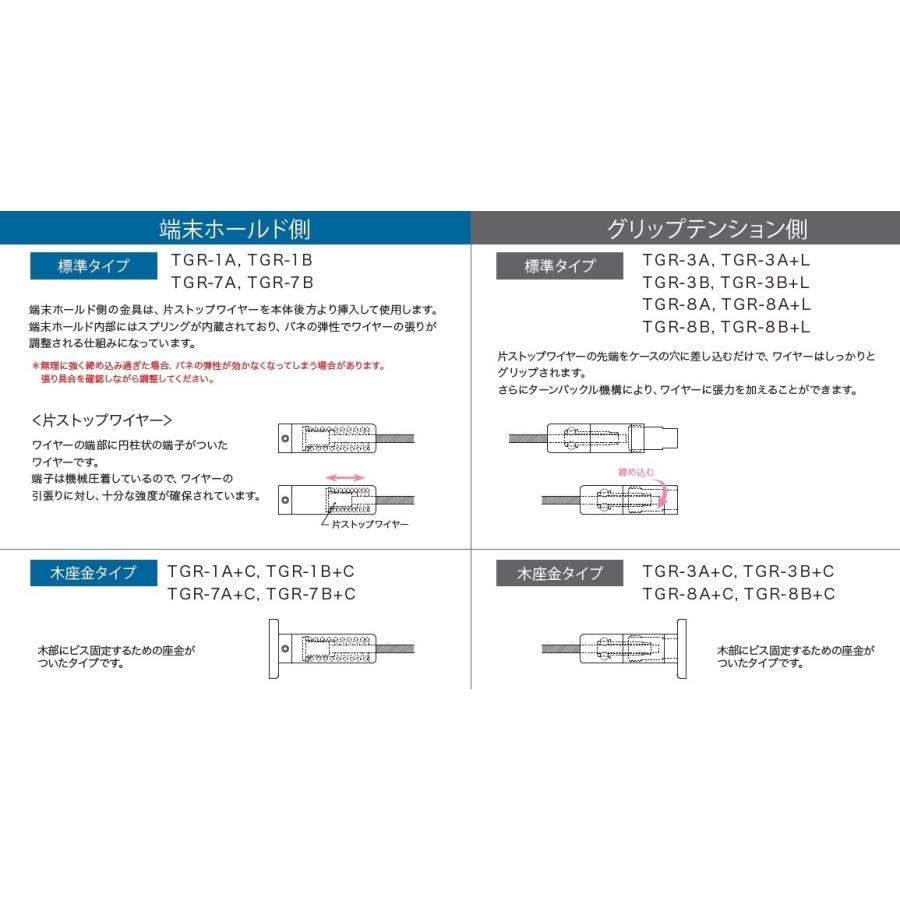 TGR-7B+C (端末ホールド側・ビス止め・傾斜・φ3 片ストップワイヤー用)|gripshop|06
