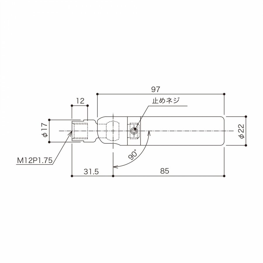TGR-7A (M12メス・傾斜・端末ホールド側・φ3 片ストップワイヤー用) gripshop 02