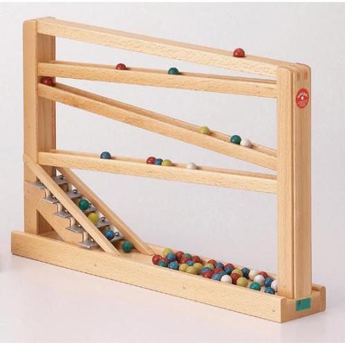 ドイツ製 木のおもちゃ ベック社 知育玩具 クーゲルバーン スロープ 音を感じて目で追う楽しさ 玉転がし 鉄琴