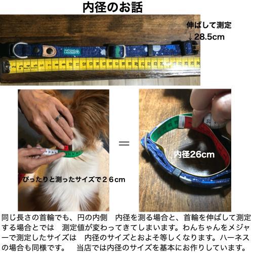 中型犬用【Mサイズ】首輪 ヒッコリー&デニム+レザー|groovygroupie|13