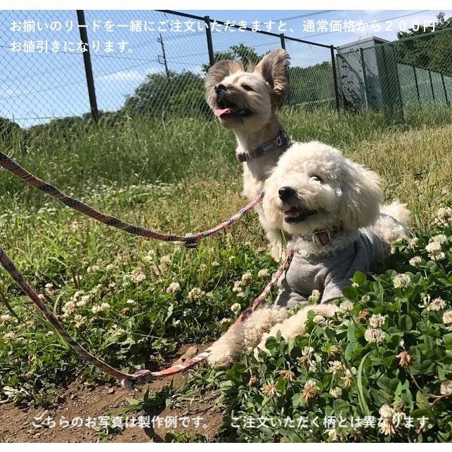 中型犬用【Mサイズ】首輪 ヒッコリー&デニム+レザー|groovygroupie|08