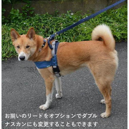 大型犬用 ハーネス デニム クイックハーネス・胴輪 ワンタッチで装着簡単 裏地クッションで優しい  日本製 オーダーメイド【Lサイズ】|groovygroupie|11