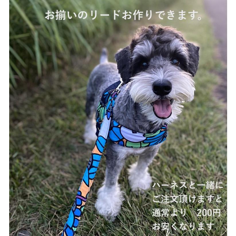 大型犬用 ハーネス デニム クイックハーネス・胴輪 ワンタッチで装着簡単 裏地クッションで優しい  日本製 オーダーメイド【Lサイズ】|groovygroupie|12