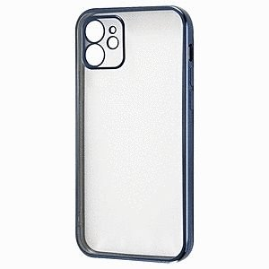 スマホケース iPhone 12 Perfect Fit メタリック ブルー  アイフォン gs-net
