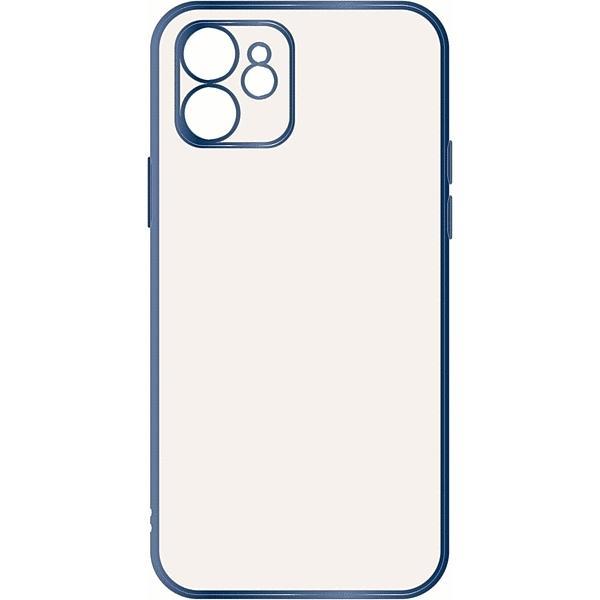 スマホケース iPhone 12 Perfect Fit メタリック ブルー  アイフォン gs-net 03