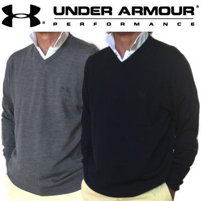 UAロゴ刺繍入り特注品 アンダーアーマー Vネックセーター