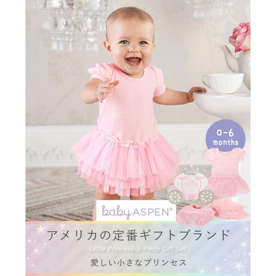 ベビーアスペン ギフト 3点セット 0〜6ヶ月 リトルプリンセス BABY ASPEN (ベビーシャワー 出産祝い 女の子 1歳 )|gudezacom|04