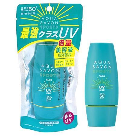 アクアシャボン アクアシャボン スポーツ UVミルク NO.1 NEW (日焼止め乳液) 58ml【ネコポス不可】|guruguru-cosme