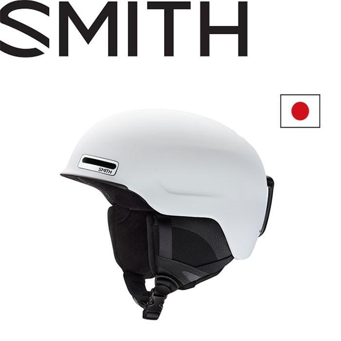 SMITH スミス 18-19 MAZE ASIAN FIT ヘルメット (MATTE-白い):1020742