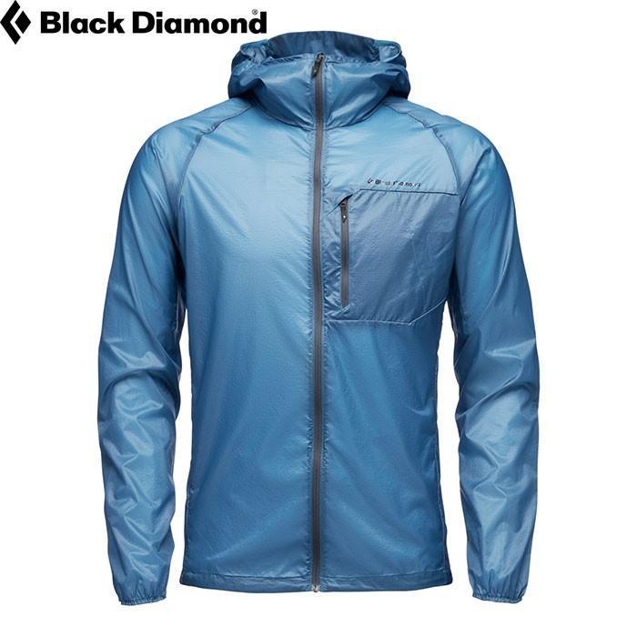 BLACKDIAMOND ブラックダイヤモンド Ms ディスタンス ウィンド シェル メンズ ジャケット ウィンドブレーカー パーカー 防風 防寒 (アストラルブルー):BD65882
