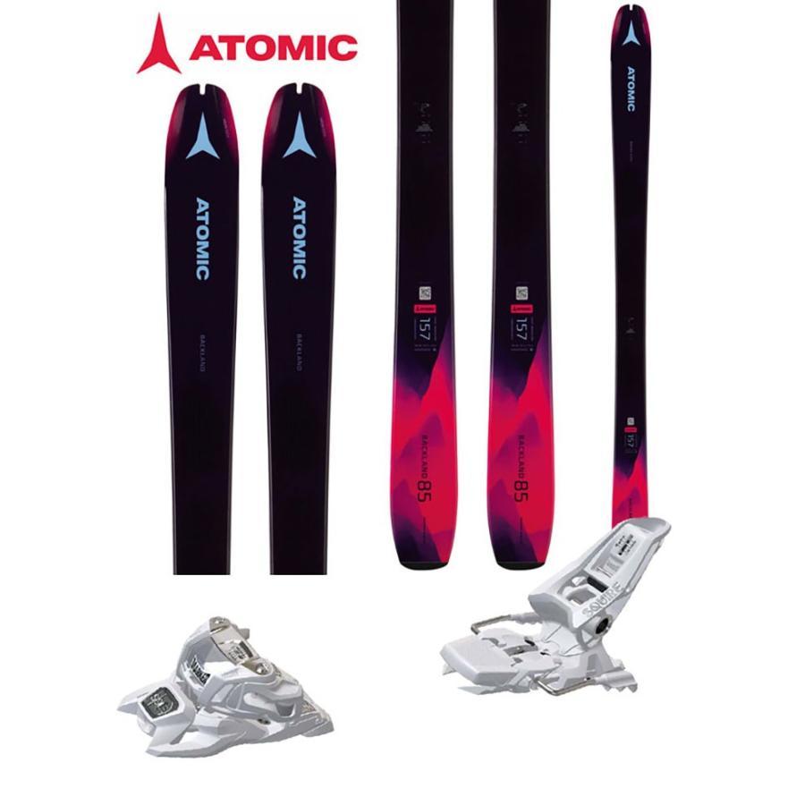 ATOMIC アトミック 18-19 スキー 2019 BACKLAND 85 W (マーカー SQ 11 ID 金具付き 2点セット) 山スキー レディース (one):BACKLAND85wSET