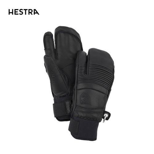 HESTRA ヘストラ 2020モデル Fall Line 3-Finger 31472 フォールライン スリーフィンガー 100(黒) スキーグローブ スノーボード グローブ レザー