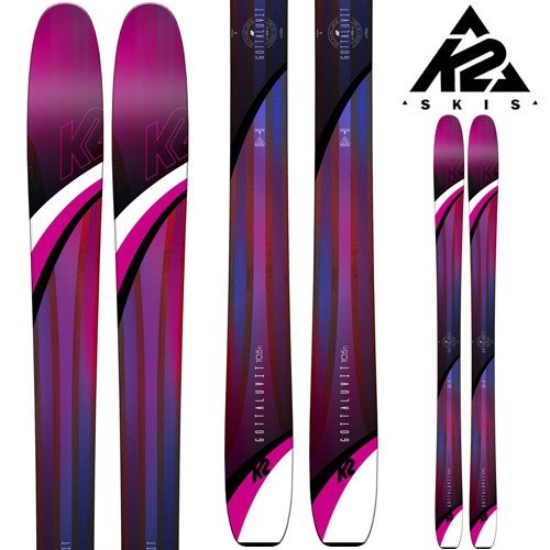 18-19 K2 ケーツー スキー Ski 2019 GOTTALUVIT 105 TI ゴッタラビット 105ti (板のみ) パウダー ロッカー レディース: