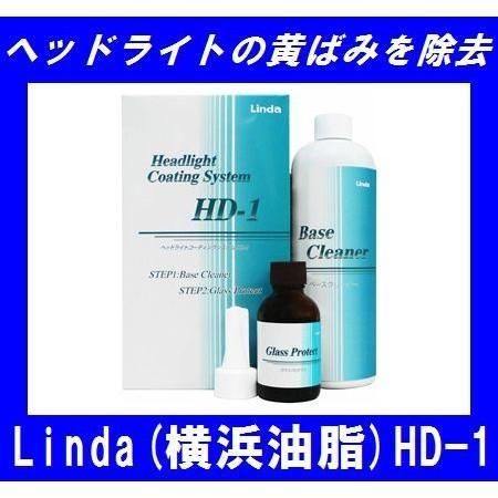 【在庫有】横浜油脂 HD-1 ベースクリーナー360ml/ガラスプロテクト35mlセット 約20回分ヘッドライトコーティング ヘッドライトレンズの黄ばみ除去 gyouhan-shop