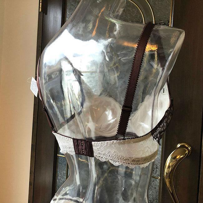 ブラジャー 脇肉 チェスニービューティー シカゴプレステージ ウェイクアップブラ チョコレートアイボリー 3/4カップ カップ内側 綿100% インポート 育乳ブラ|h-blue|03