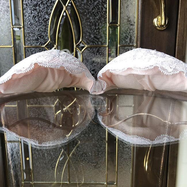 ブラジャー 脇肉 チェスニービューティー クイーン ウェイクアップブラ モーニングミスト 3/4カップ カップ内側 綿100% インポートランジェリー 育乳ブラ 40代 h-blue 09