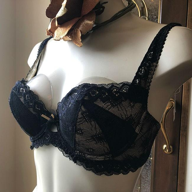 チェスニー ビューティー ブラジャー セール 上下セット 大きいサイズ  美胸女優ブラ |  選べる ショーツ タンガ バストアップ インポートランジェリー 半額以下|h-blue|03