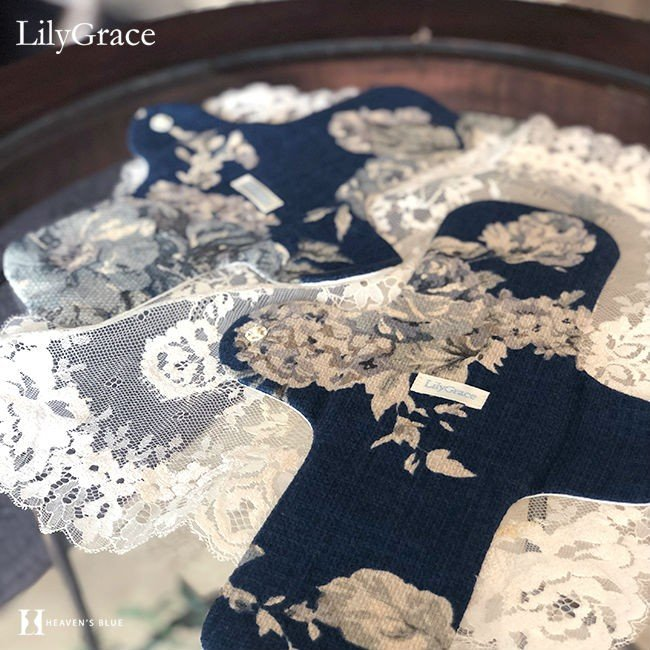 布ナプキン シルク 昼用 普通の日 約23cm リリィグレイス シルク100% 布ナプ おりもの 羽根つき 日本製 【ネコポス対応可】|h-blue|17