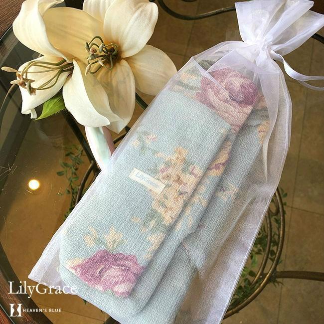 布ナプキン シルク 夜用 約36cm 超 ロング タイプ リリィグレイス シルク100% 布ナプ おりもの 日本製 【ネコポス対応可】 h-blue 12