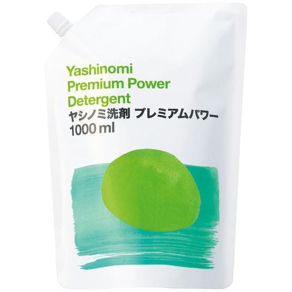 ヤシノミ洗剤プレミアムパワー 食器用洗剤 無香料・無着色 詰め替え用 1L 1個 アスクル