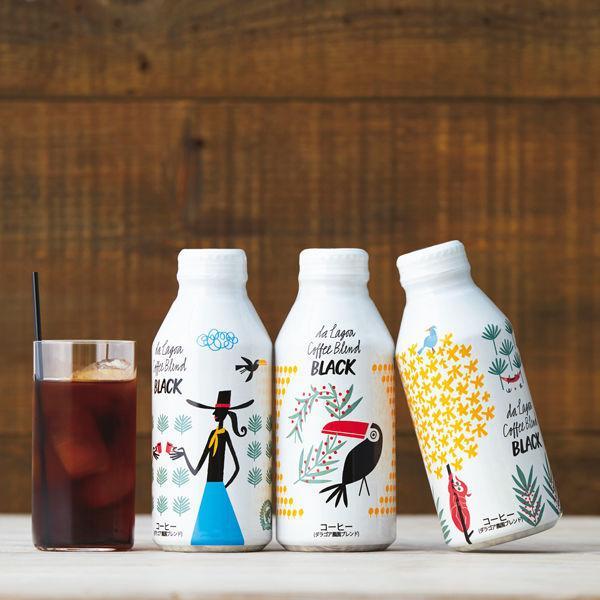 石光商事 ダ ラゴア農園ブレンド ブラックコーヒー ボトル缶 375g 1箱(24缶入)