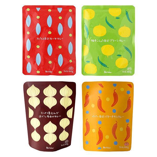 【LOHACO限定】ハウス食品 限定レトルトカレー4種×各1点 おすすめ4食セット