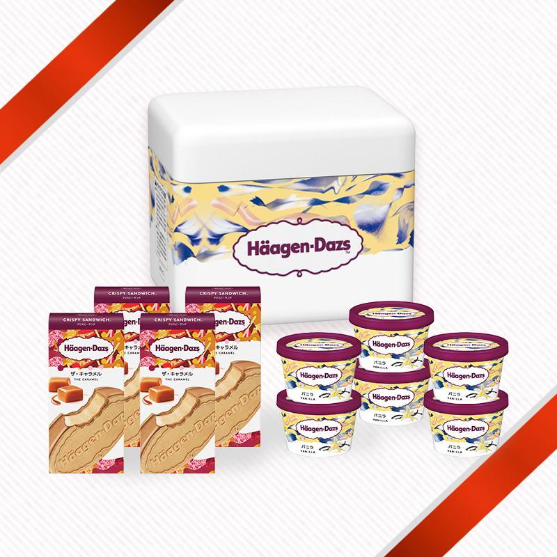 ハーゲンダッツ 返品送料無料 ランキングTOP5 アイスクリーム クリスピーサンド4個 ミニカップ6個セット