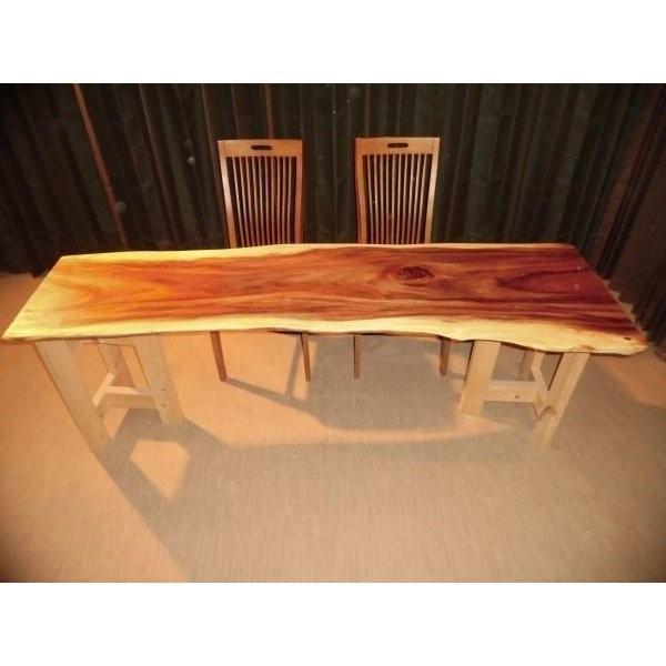 一枚板 天板 無垢 モンキーポッド ダイニングテーブル 脚が選べる ローテーブル リビングテーブル 座卓 長さ 200〜203cm 幅 50〜65cm 厚み 3.7cm