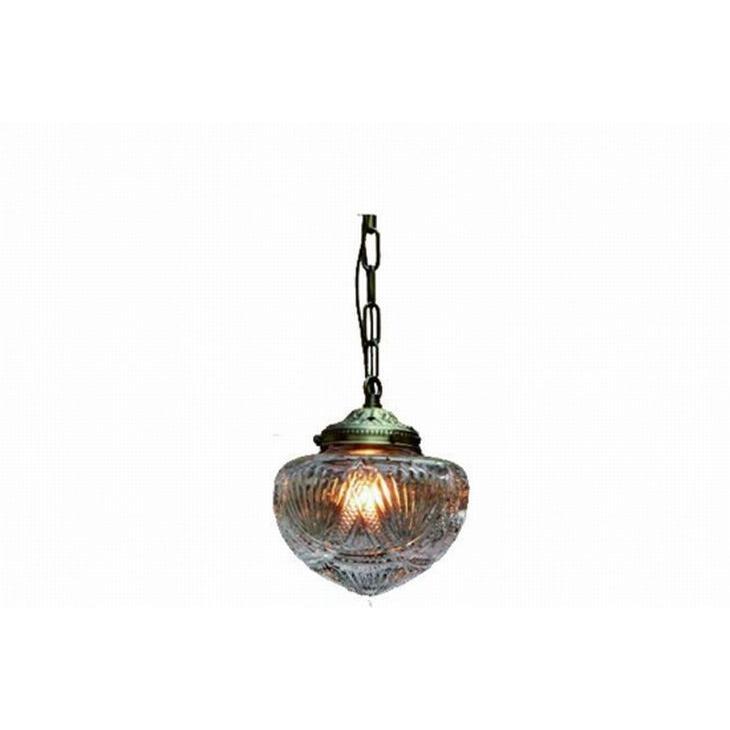 ガラス ペンダントランプ (FC-952 SET) LED対応 ガラスのシェードがクラシカル アンティーク調 ランプ 吊り下げ式 シンプル
