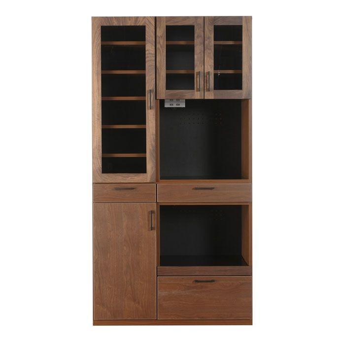 レンジボード キッチンボード レンジ台 100 おしゃれ 木製 2素材から選べます 食器棚 キッチン収納 開梱設置付き 送料無料