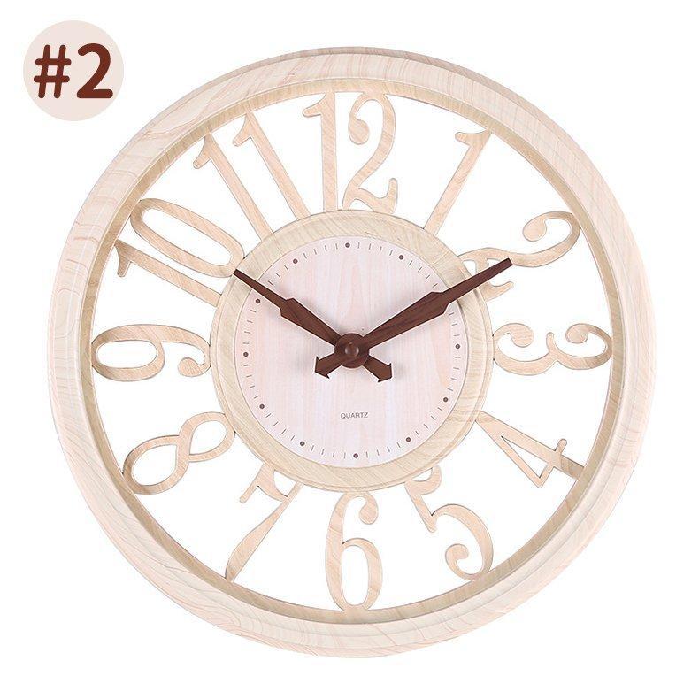 壁掛け時計 時計 壁掛け 掛け時計 おしゃれ 北欧 木目調 静音 非電波 シンプル デジタル 見やすい お洒落 装飾 インテリア飾り 引越し祝い 新築祝い 30cm|hachihachi618|16