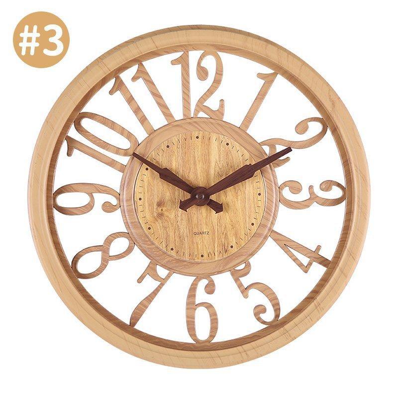 壁掛け時計 時計 壁掛け 掛け時計 おしゃれ 北欧 木目調 静音 非電波 シンプル デジタル 見やすい お洒落 装飾 インテリア飾り 引越し祝い 新築祝い 30cm|hachihachi618|17