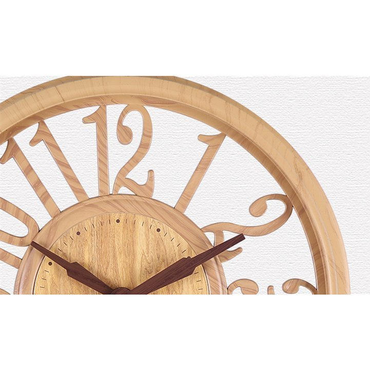壁掛け時計 時計 壁掛け 掛け時計 おしゃれ 北欧 木目調 静音 非電波 シンプル デジタル 見やすい お洒落 装飾 インテリア飾り 引越し祝い 新築祝い 30cm|hachihachi618|03