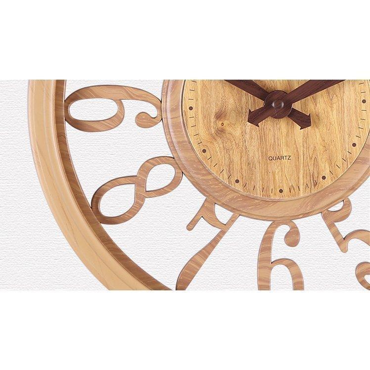 壁掛け時計 時計 壁掛け 掛け時計 おしゃれ 北欧 木目調 静音 非電波 シンプル デジタル 見やすい お洒落 装飾 インテリア飾り 引越し祝い 新築祝い 30cm|hachihachi618|05
