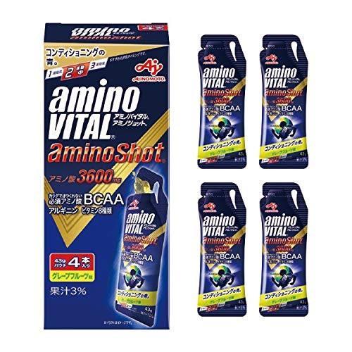 味の素 「アミノバイタルRアミノショットR」 グレープフルーツ味 43g×4袋|hachistore