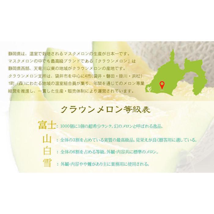 メロン クラウンメロン 白等級 1.2kg 1玉 静岡県産 めろん|hachiya-fruits|05