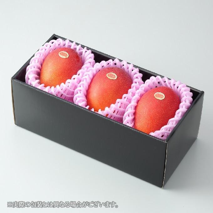 マンゴー みやざき完熟マンゴー 赤秀 4Lサイズ 510g以上×3玉 宮崎県産 JA宮崎経済連 ギフト お取り寄せグルメ 母の日 父の日|hachiya-fruits|02