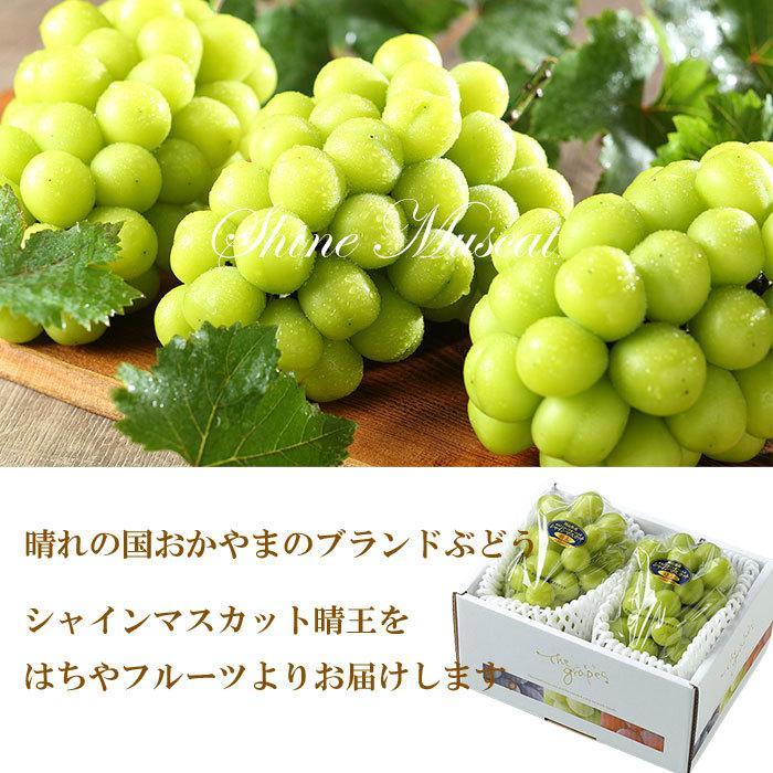 ぶどう シャインマスカット 晴王 優品 400g×2房 岡山県産 JAおかやま 葡萄 ブドウ hachiya-fruits 05
